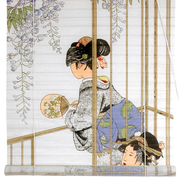 Handmade Rice Paper and Bamboo 36-inch Geisha Shoji Blinds (China)