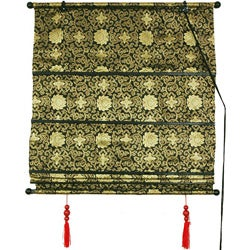 48-inch Black/Gold Shang Hai Tan Blinds (China)
