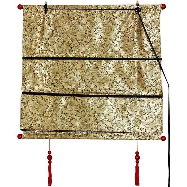 Handmade 24 inch Gold Shang Hai Tan Blinds (China)
