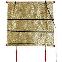 Handmade 48-inch Gold Shang Hai Tan Blinds (China)
