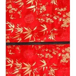 Handmade Red 24-inch Shang Hai Tan Blinds (China) - Thumbnail 1
