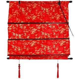 Handmade Red 24-inch Shang Hai Tan Blinds (China)