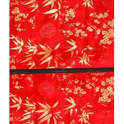 Handmade 36-inch Red Shang Hai Tan Blinds (China) - Thumbnail 1