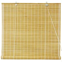Handmade 24-inch Natural Matchstick Roll Up Blinds (China)