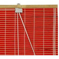 Handmade 24-inch Red Bamboo Roll Up Blinds (China)