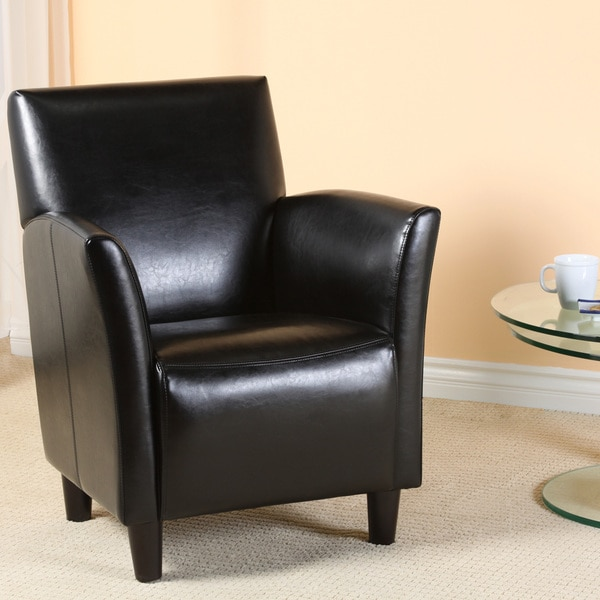 Francisco Black Bonded Leather Club Chair By Christopher Knight Home