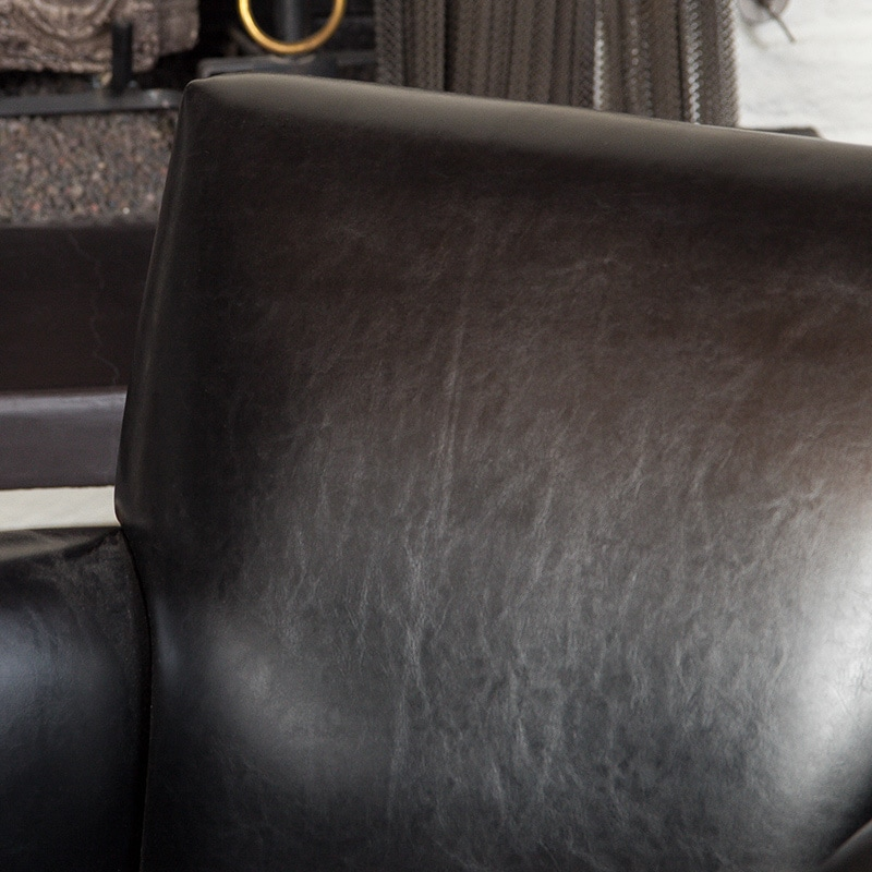 Francisco Black Bonded Leather Club Chair by Christopher ...