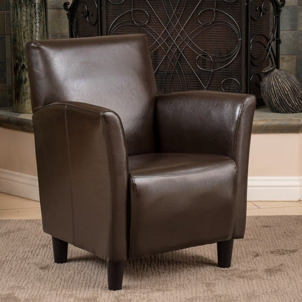 Christopher Knight Home Francisco Brown Bonded Leather Club Chair