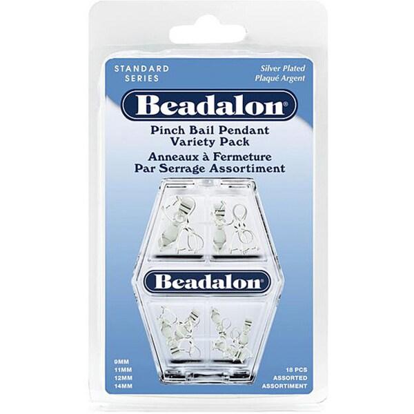 Beadalon Pendant Silver Pinch Bail Variety Pack