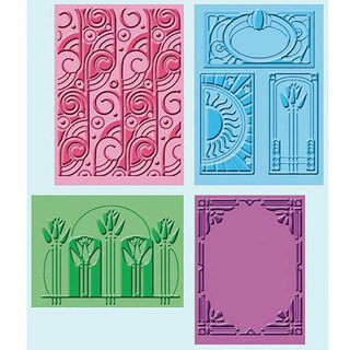 Cricut Cuttlebug Art Deco Embossing Folders (Pack of 4)