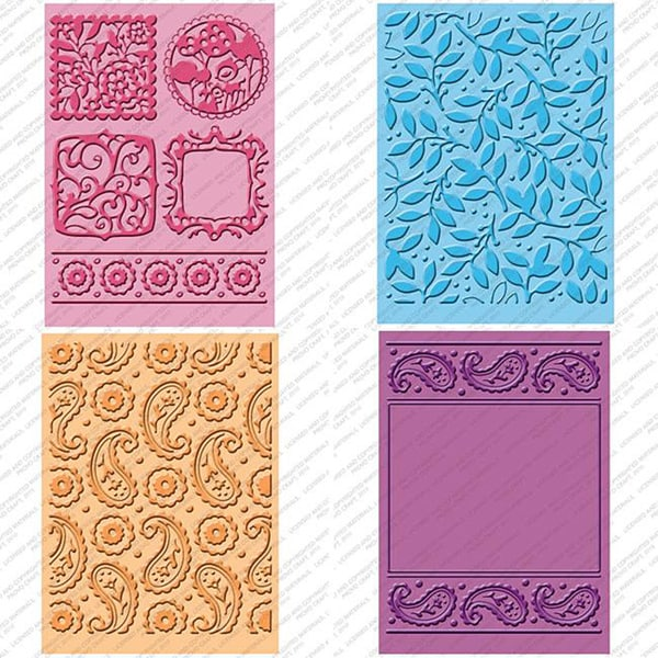 Plastic Provo Craft Cuttlebug Cricut Companion Embossing Folder Four-Piece Package