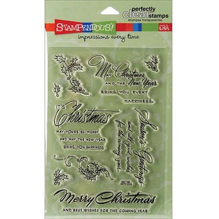 Stampendous Christmas Wishes Perfectly Clear 4x6 Stamps Sheet