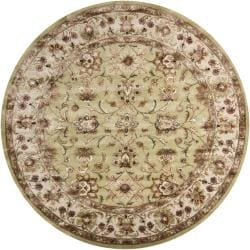 Artist's Loom Hand-tufted Traditional Oriental Rug (7'9 Round)