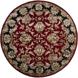 Artist's Loom Hand-tufted Traditional Oriental Rug (7'9 Round) - Thumbnail 2