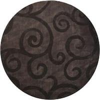 Artist's Loom Hand-tufted Transitional Floral Rug - 7'9