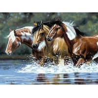 Artist's Collection Heading Upstream Paint By Number Kit (12x16)