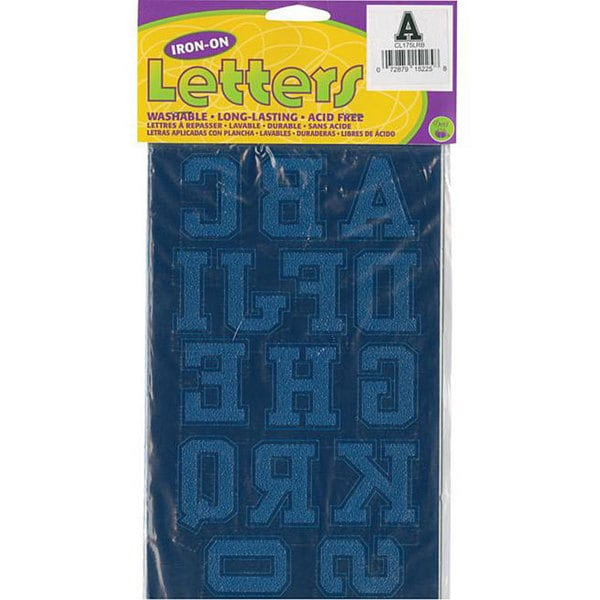 Dritz Collegiate Royal Blue Letter and Number Iron-ons