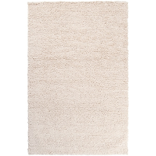 Hand Woven Nimbus Ivory Wool Area Rug - 8' x 10'. Opens flyout.