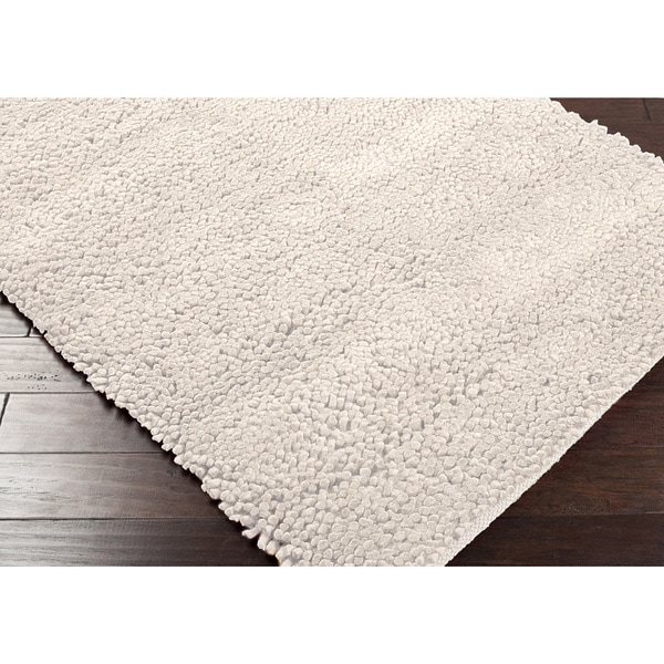 Hand Woven Nimbus Ivory Wool Rug (8'x10')