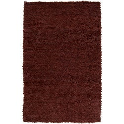 Hand-woven Nimbus Chocolate Wool Rug (5'x8')