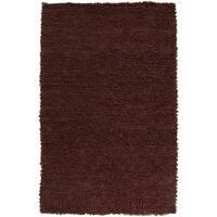 Hand-woven Nimbus Chocolate Wool Area Rug - 5' x 8'
