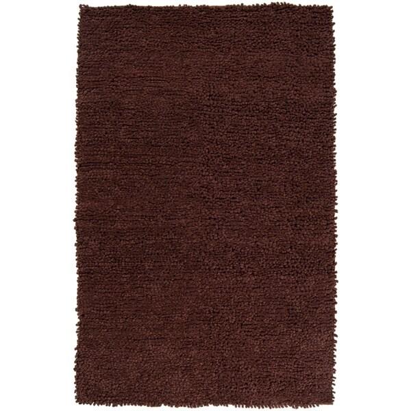Hand-woven Nimbus Chocolate Wool Area Rug - 8' x 10'