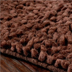 Hand-woven Nimbus Chocolate Wool Rug (8'x10') - Thumbnail 1
