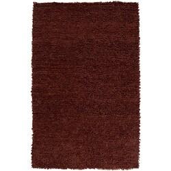Hand-woven Nimbus Chocolate Wool Rug (8'x10')
