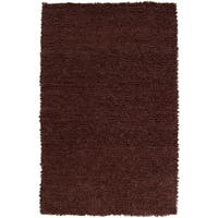 Hand-woven Nimbus Chocolate Wool Area Rug - 8' x 10'