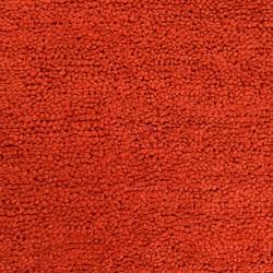 Hand-woven Nimbus Rust Wool Rug (5'x8') - Thumbnail 2