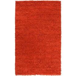 Hand-woven Nimbus Rust Wool Rug (8'x10')
