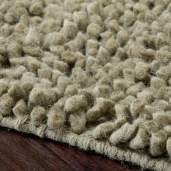 Hand-woven Nimbus Sage Green Wool Rug (5'x8') - Thumbnail 2