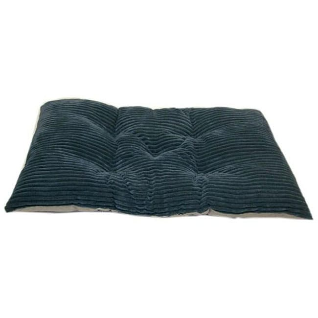 Tufted Blue Chenille Corduroy Crate Non-skid Surface Pet Pad