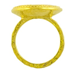 GoldKist 18k Gold over Silver Hammered Oval Ring