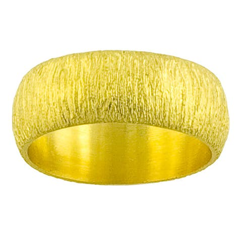 GoldKist 18k Gold over Silver Satin Ring