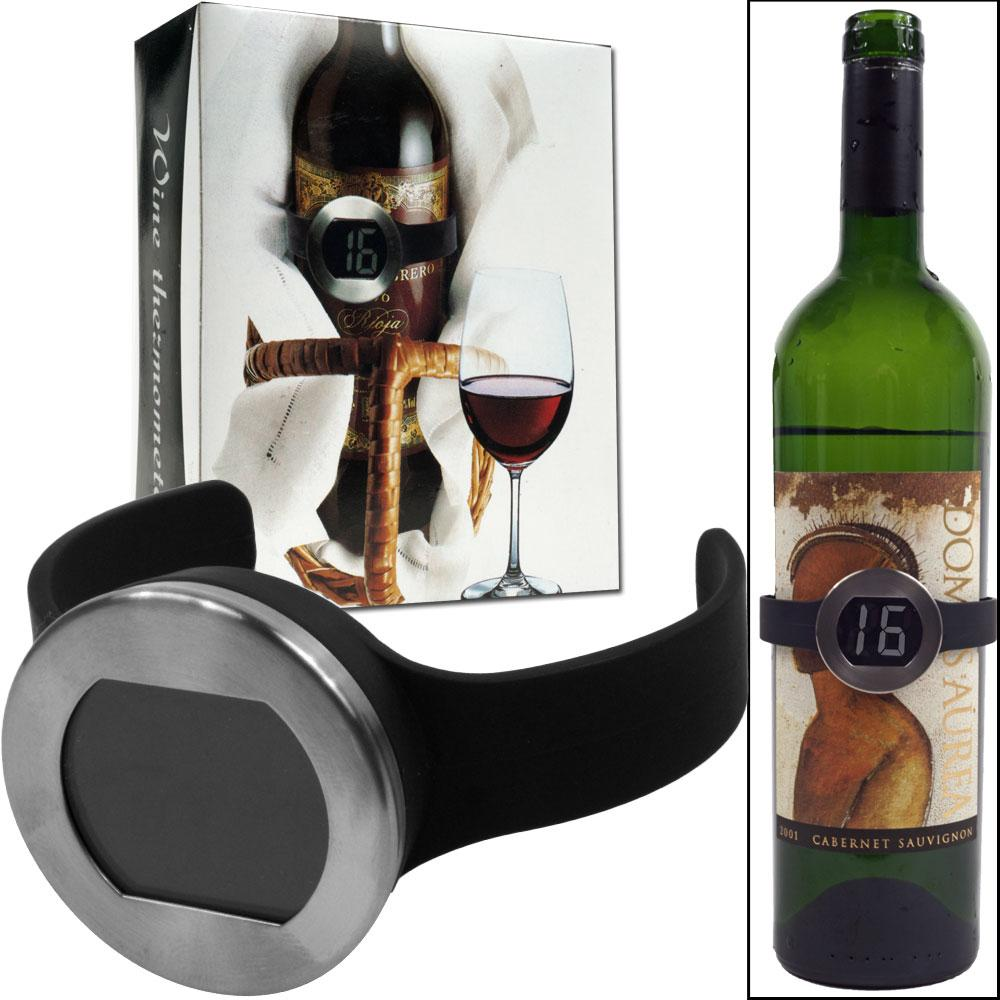 Wine Bottle Thermomenter with Digital Display