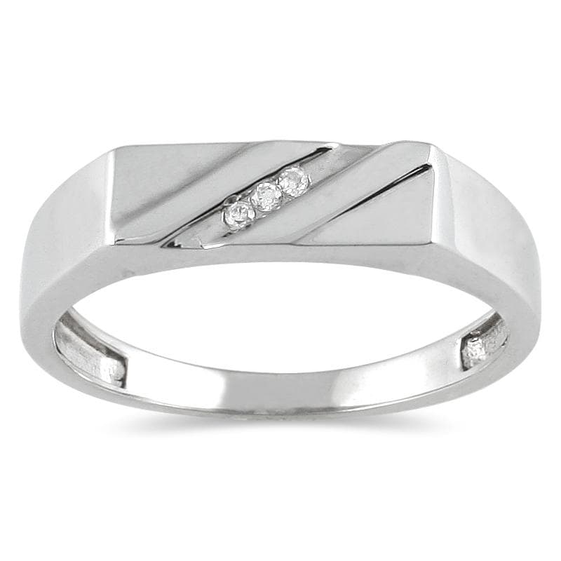 Marquee Jewels 10k White Gold Men's Diamond Accent Ring - Thumbnail 0