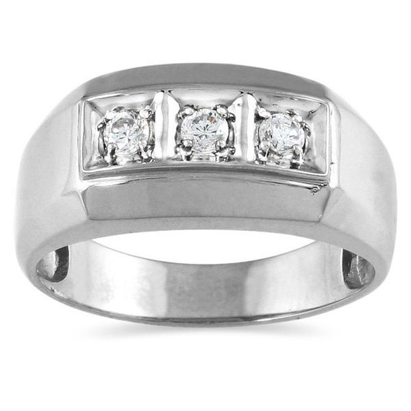 10k Gold 1/4ct TDW Men's Diamond Ring