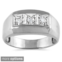 10k Gold 1/4ct TDW Men's Diamond Ring