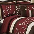 Lush Decor Red Cocoa Flower 8-piece Comforter Set