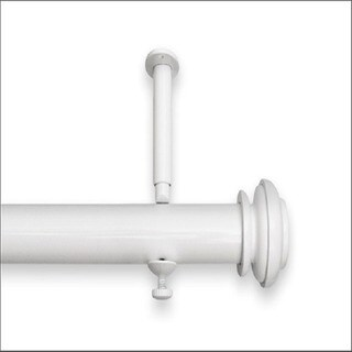 Adjustable 12 to 20-foot Patio Door Curtain Rod - 240 (White Finish - White - 171 to 240 inches)