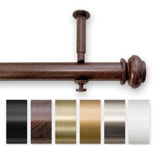 Pinnacle Bold Pole Adjustable 144 to 240-inch Length Curtain Rod Set for Patio Doors
