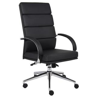 Boss Contemporary High-back Chrome Steel Foam Fabric Executive Chair