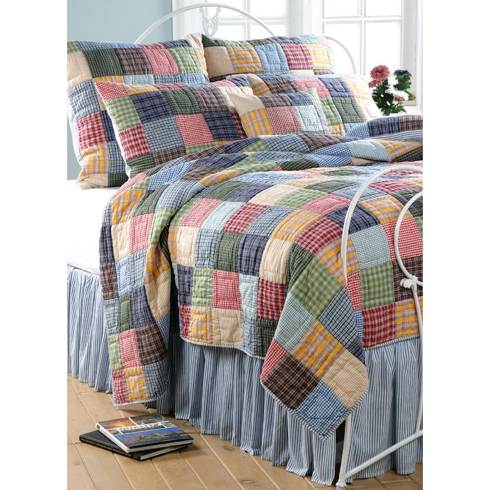 Cottage Home Caftan Reversible 3-piece Quilt Set (Full/ Q...
