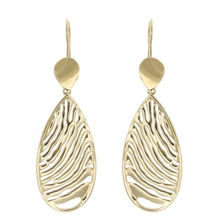 14K Gold over Sterling Silver Drop Earrings
