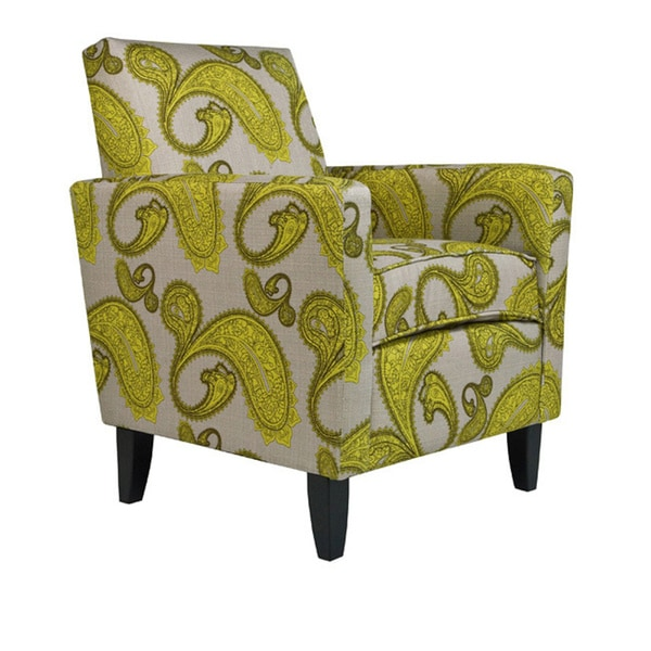 Angelo Home Sutton Modern Lemongrass Paisley Arm Accent