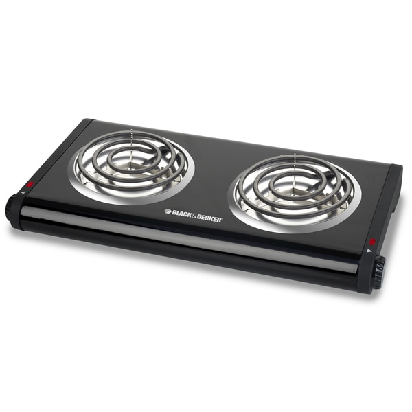 Black & Decker DB1002B Double-Burner Portable Buffet Range