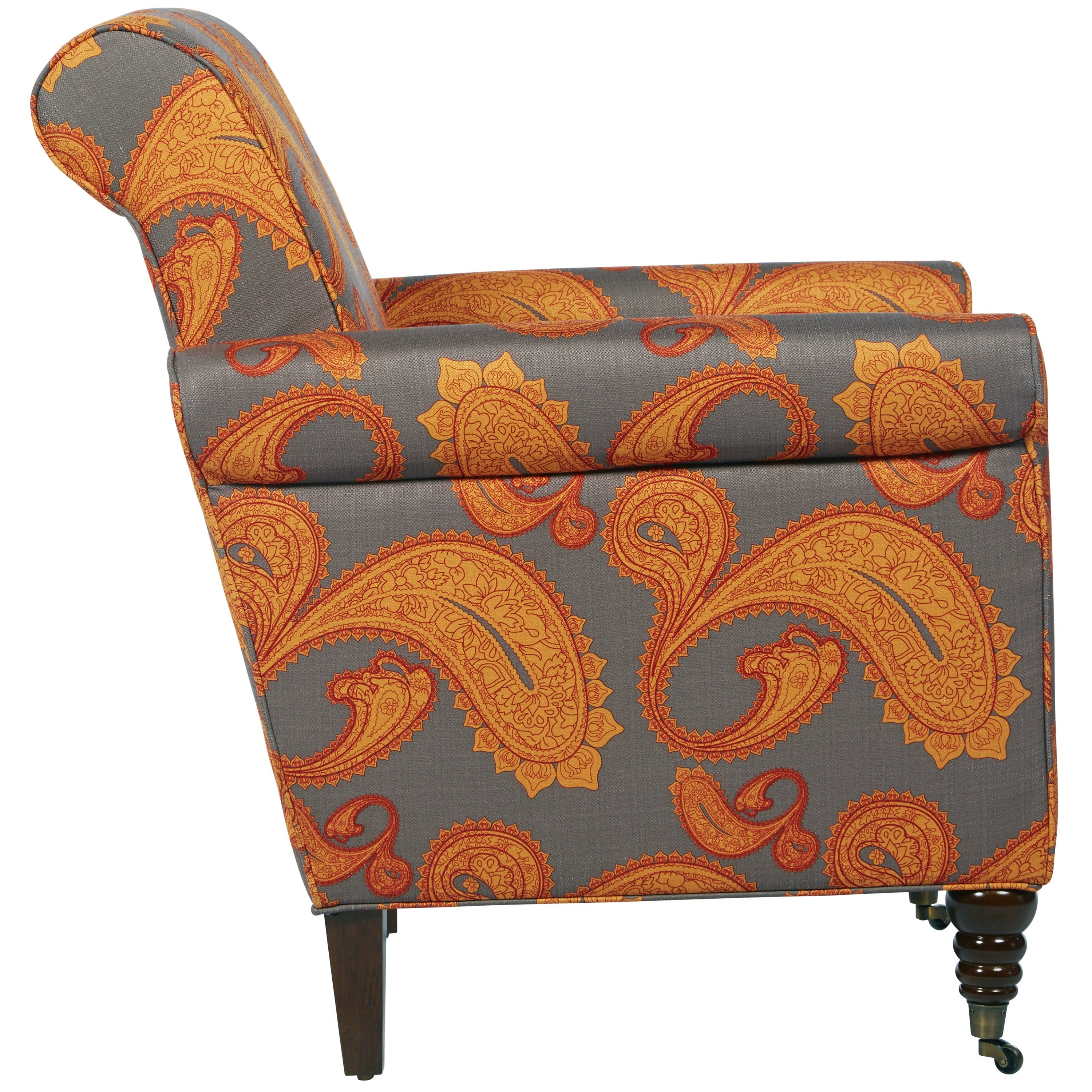 Surprising Better Living Hyde Brown Paisley Accent Arm Chair Andrewgaddart Wooden Chair Designs For Living Room Andrewgaddartcom
