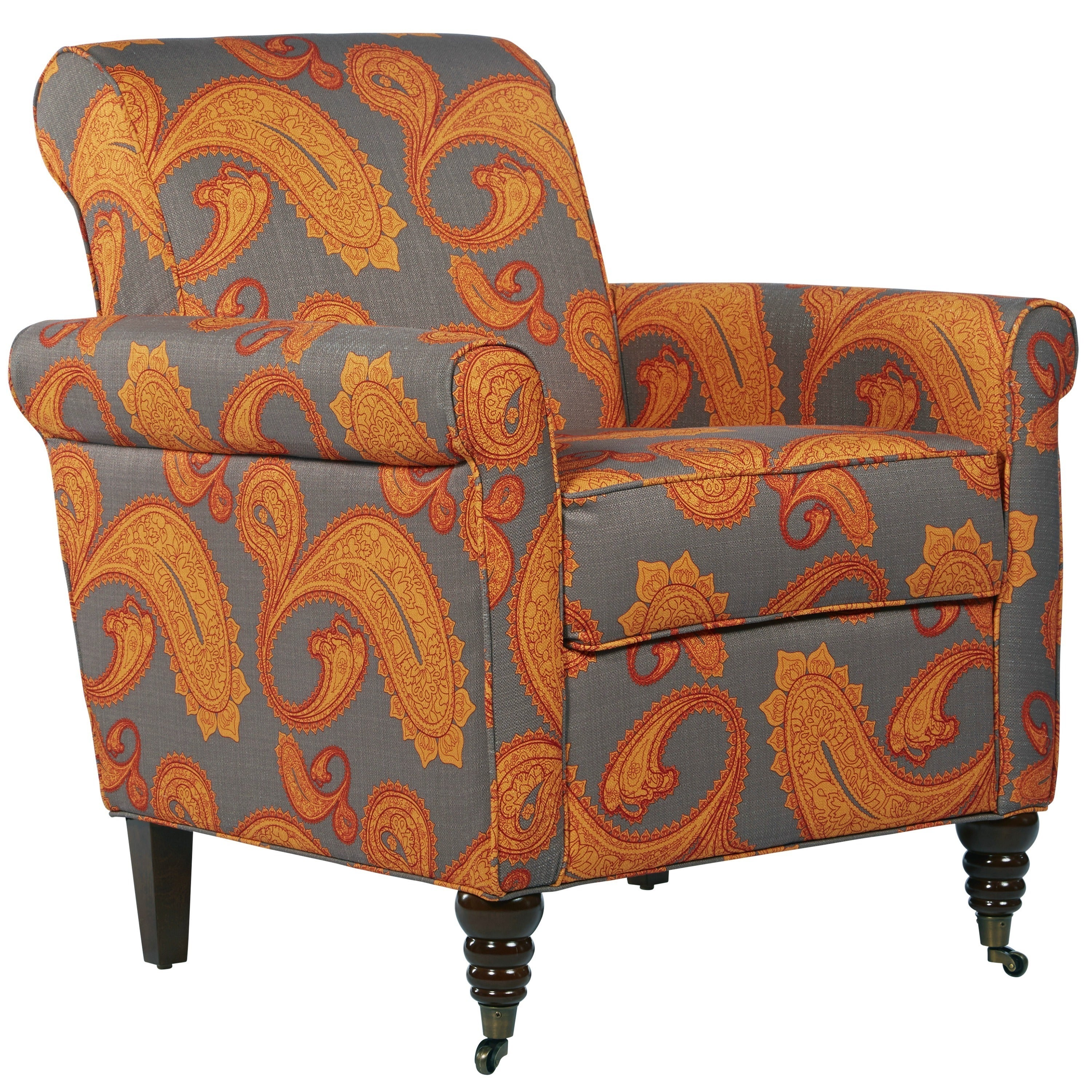 Enjoyable Better Living Hyde Brown Paisley Accent Arm Chair Andrewgaddart Wooden Chair Designs For Living Room Andrewgaddartcom