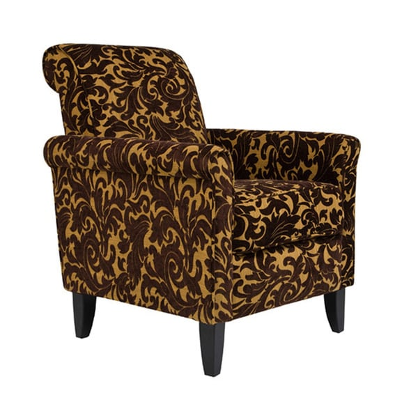 angelo:HOME Harlow Java Brown Velvet Accent Arm Chair